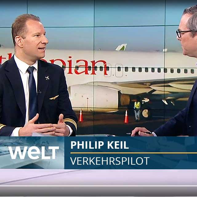 Philip Keil im Welt TV-Studio